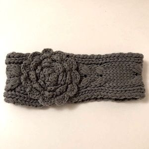 Knit Rose Earband